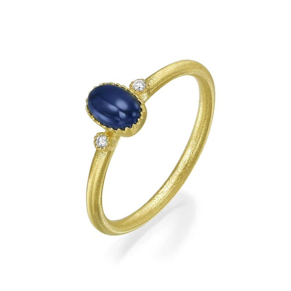 gold rings | 14K Yellow Gold Sapphire ring - Matt Liberty