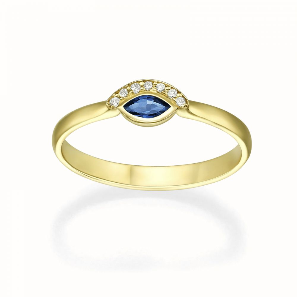 gold rings | 14K Yellow Gold Ruby and Diamond ring - Ariana