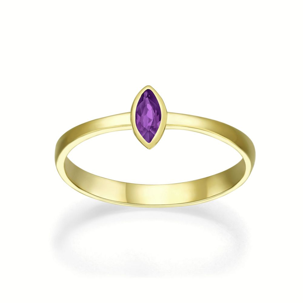 gold rings | 14K Yellow Gold Ruby ring - Sol