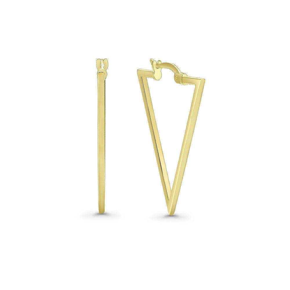 Gold Earrings | 14K Yellow Gold Earrings- California Triangles