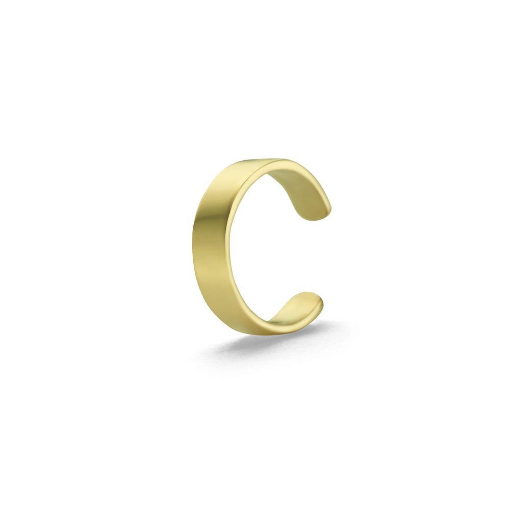 Gold Earrings | 14K Yellow Gold Earrings- Narrow Helix