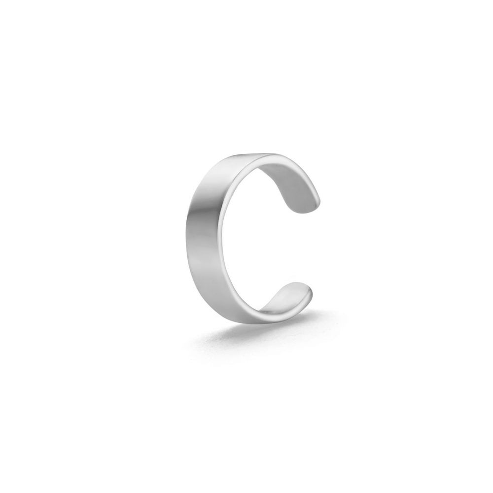Gold Earrings | 14K White Gold Earrings - Narrow Helix