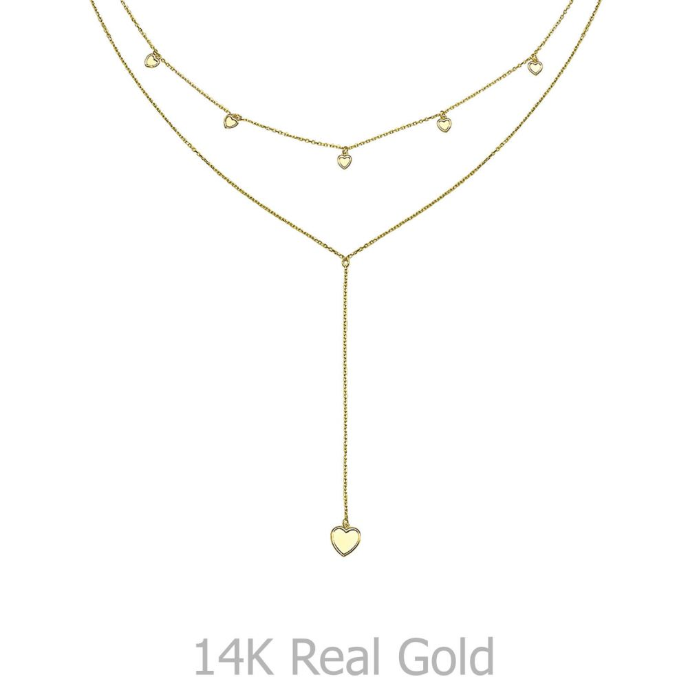 Women's Gold Jewelry | 14k Yellow gold women's pendants - Fantasy Heart