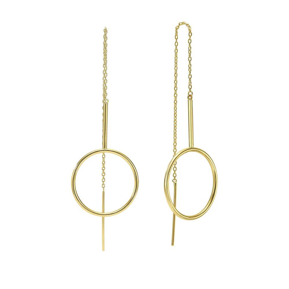 Gold Earrings | 14K Yellow Gold Earrings- Osaka