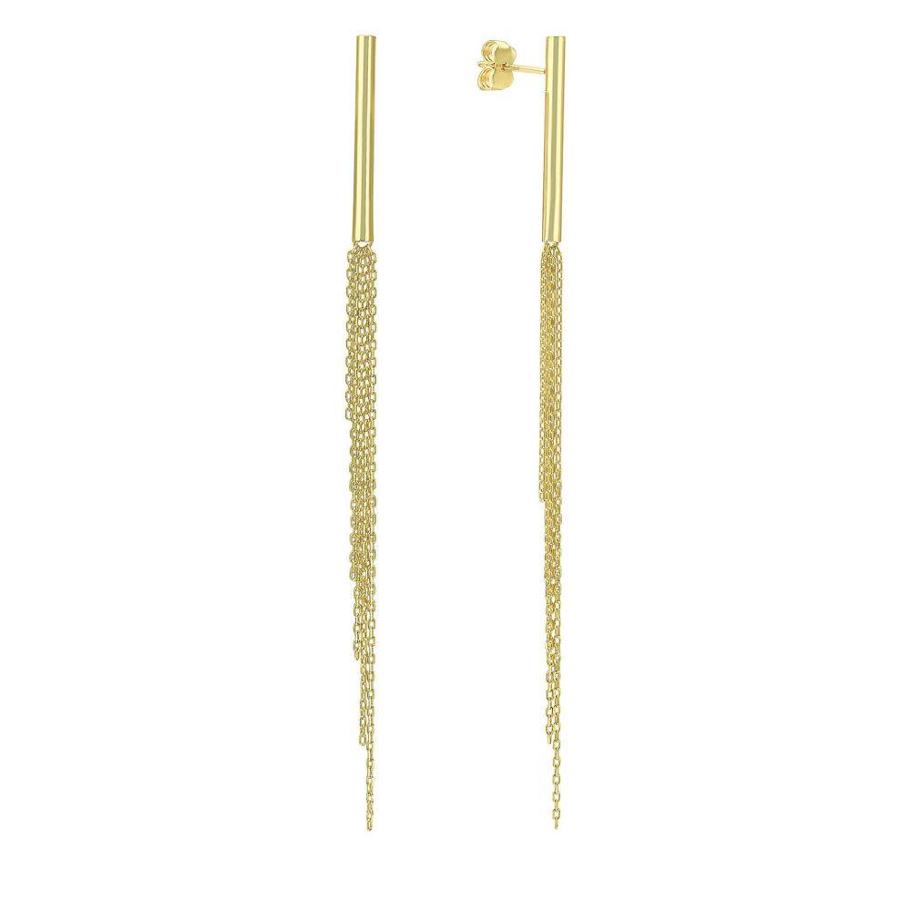 Gold Earrings | 14K Yellow Gold Earrings- Madeleine