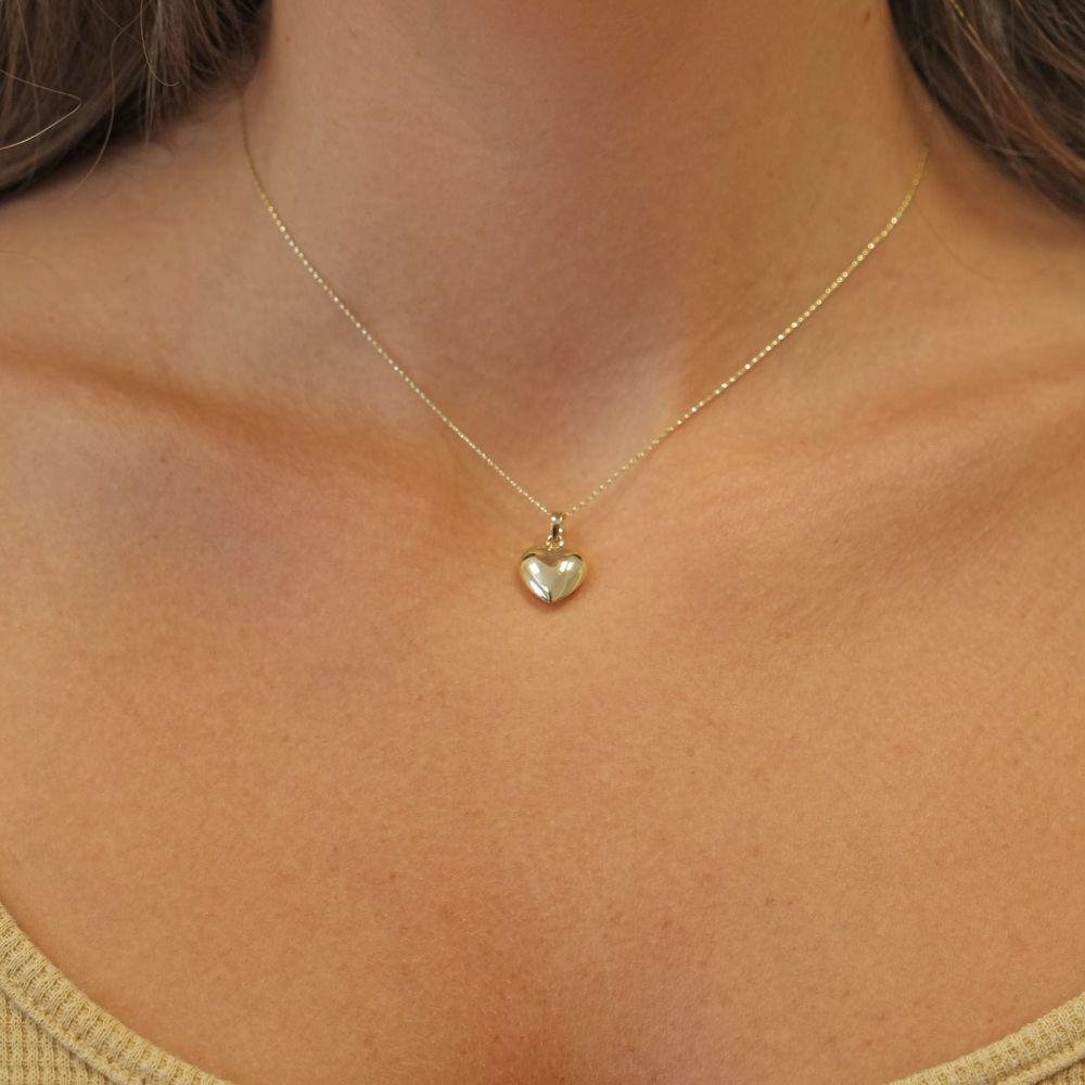 Women's Gold Jewelry | 14K Yellow Gold Women's Pendant - Heart of Fiji