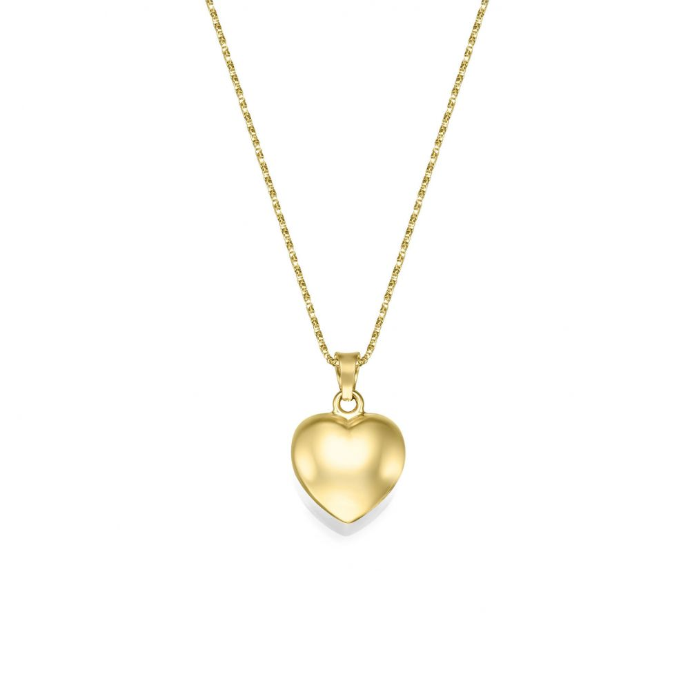 Women's Gold Jewelry | 14K Yellow Gold Women's Pendant - Heart of Fiji