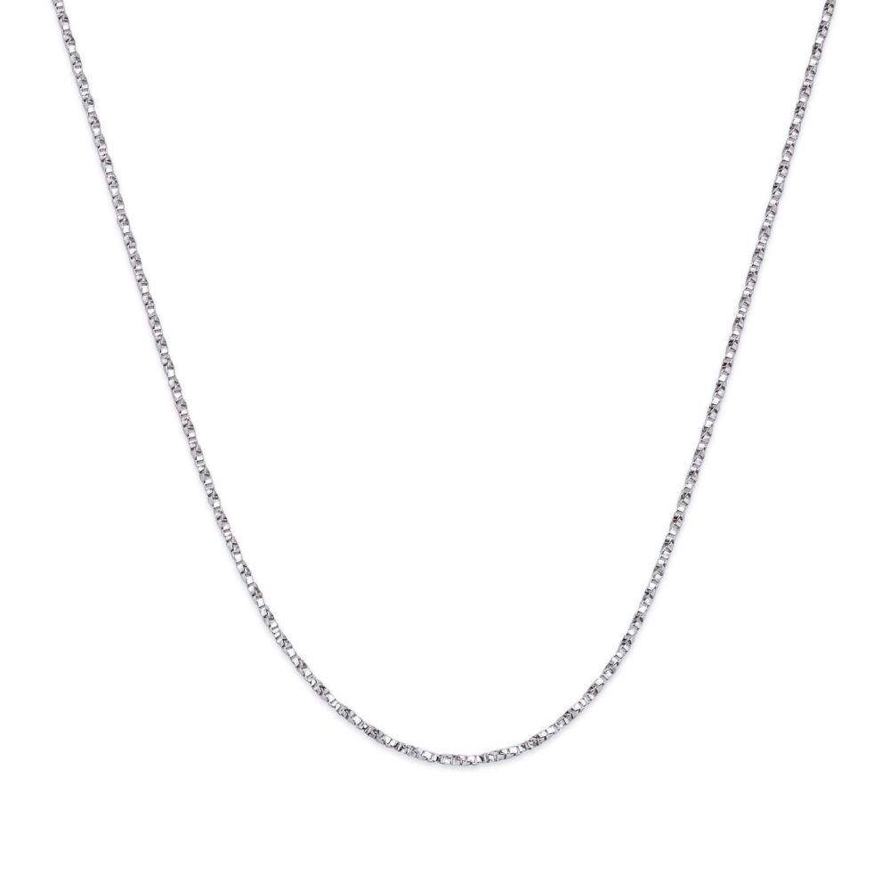 Women's Gold Jewelry | Pendant and Necklace in 14K White Gold - Two Drop Hearts