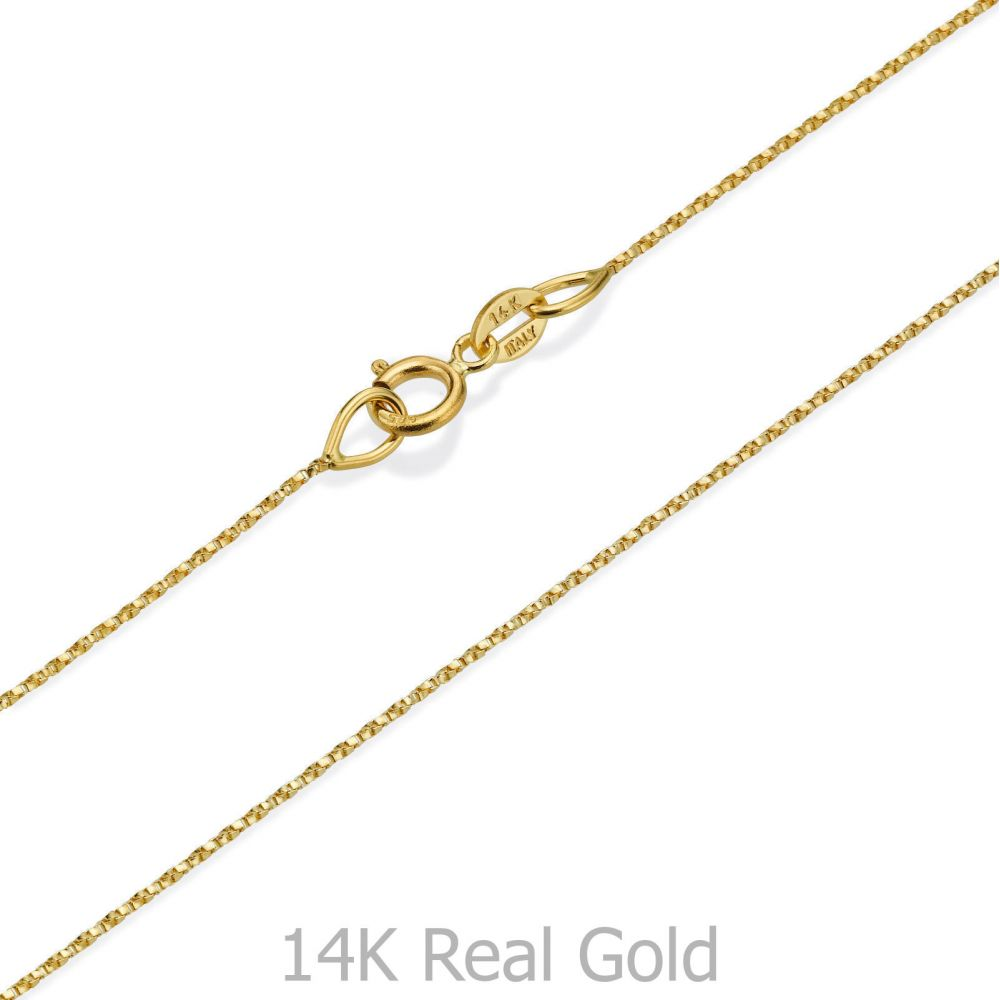 Women's Gold Jewelry | Pendant and Necklace in 14K Yellow Gold - Golden Cube