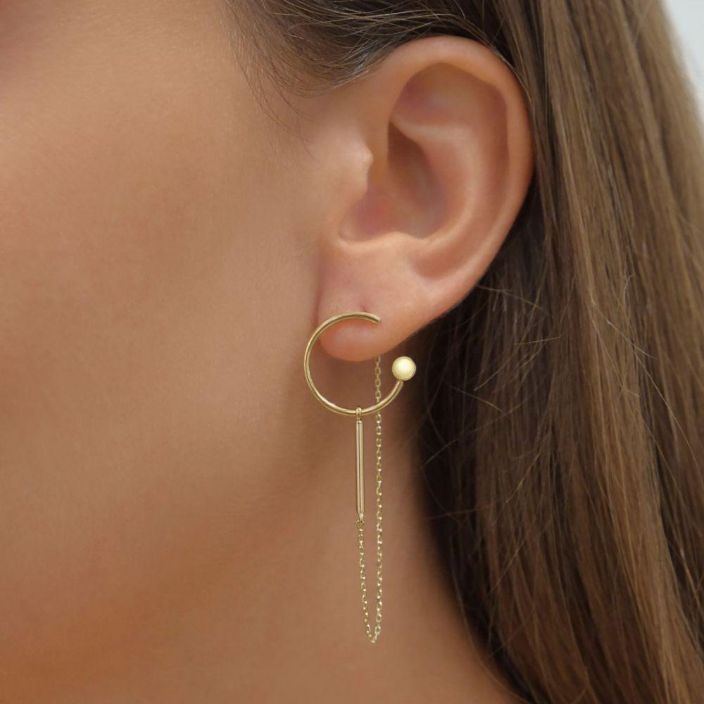 Women's Gold Jewelry | 14K Yellow Gold Women's Earrings - Viola