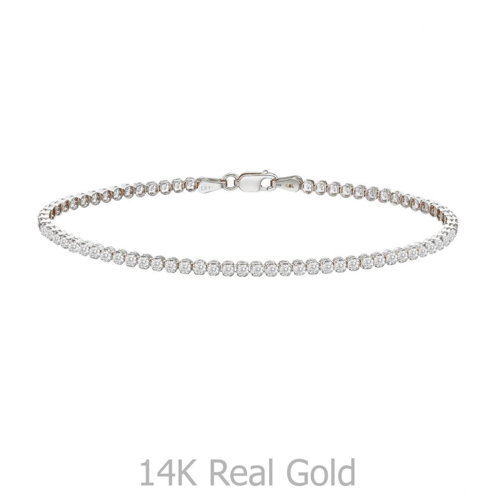 Women's Gold Jewelry | 14K White  Gold Women's Bracelets - Denver