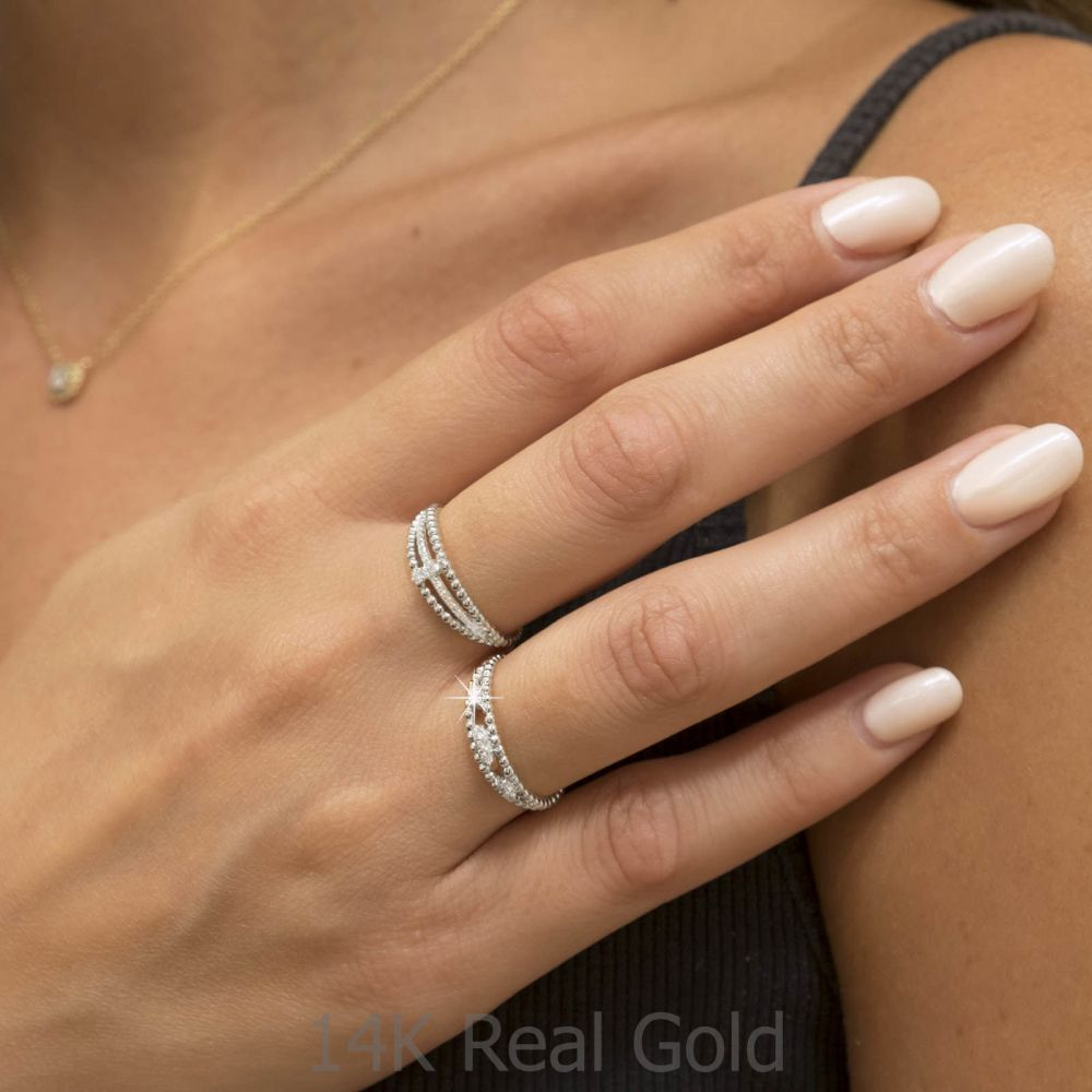 Diamond Jewelry | 14K White Gold Rings - Destine