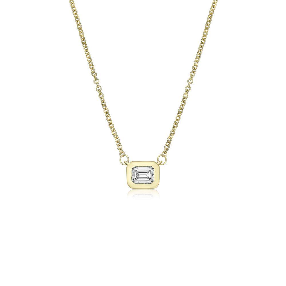 Women's Gold Jewelry   14K Yellow Gold Diamond Women's Pendant - Orion
