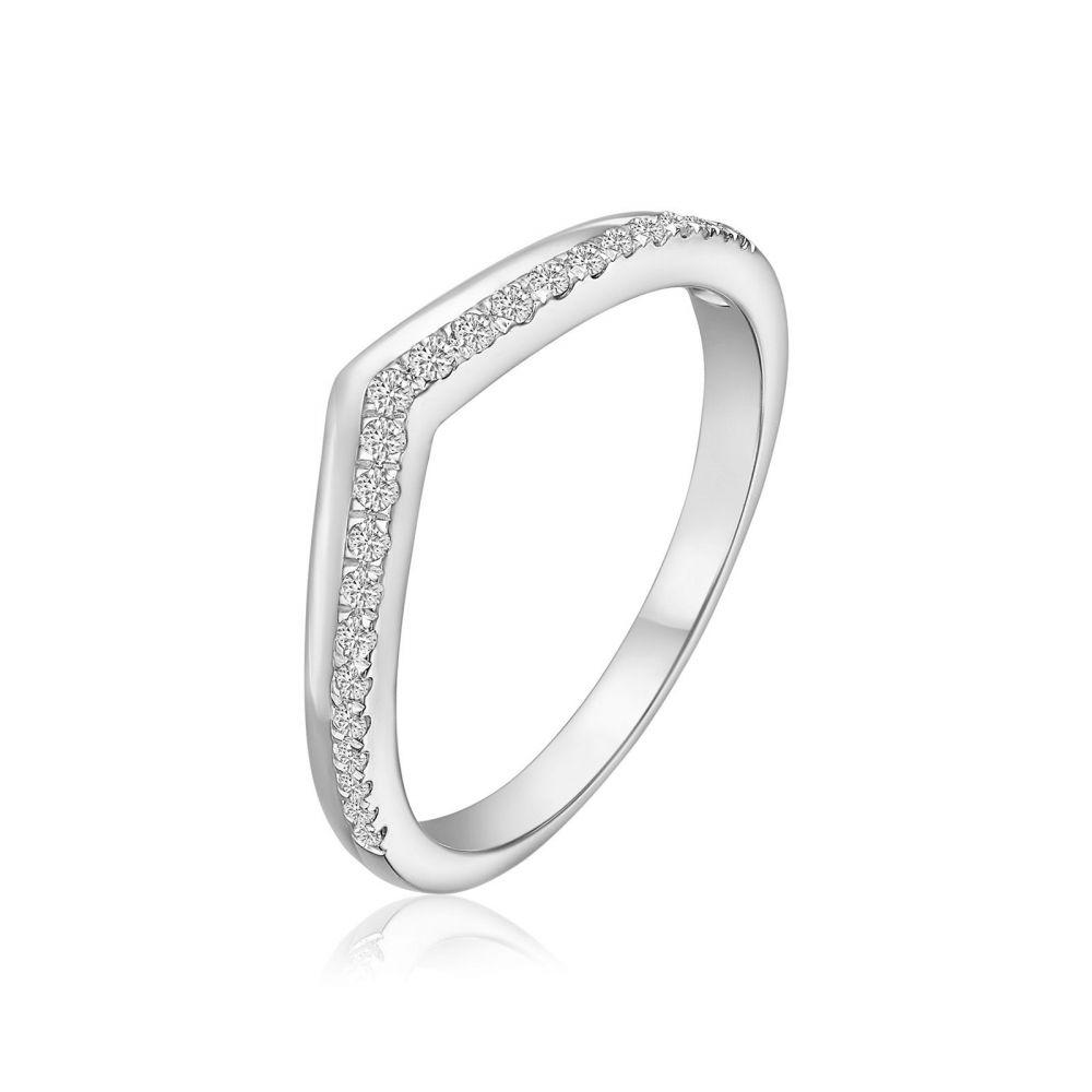 Diamond Jewelry | 14K White Gold Diamond Ring - Riley