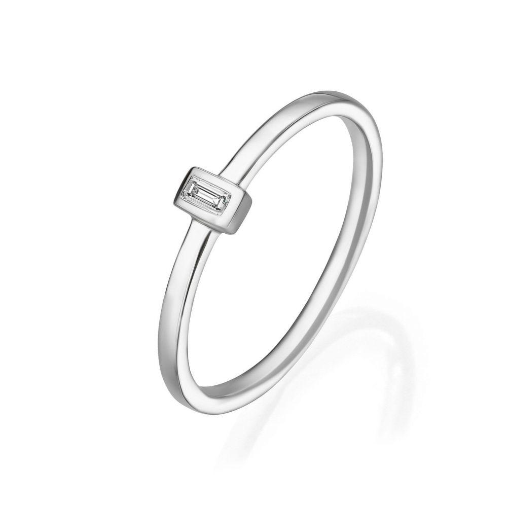 Diamond Jewelry   14K White Gold Diamond Ring - Tai