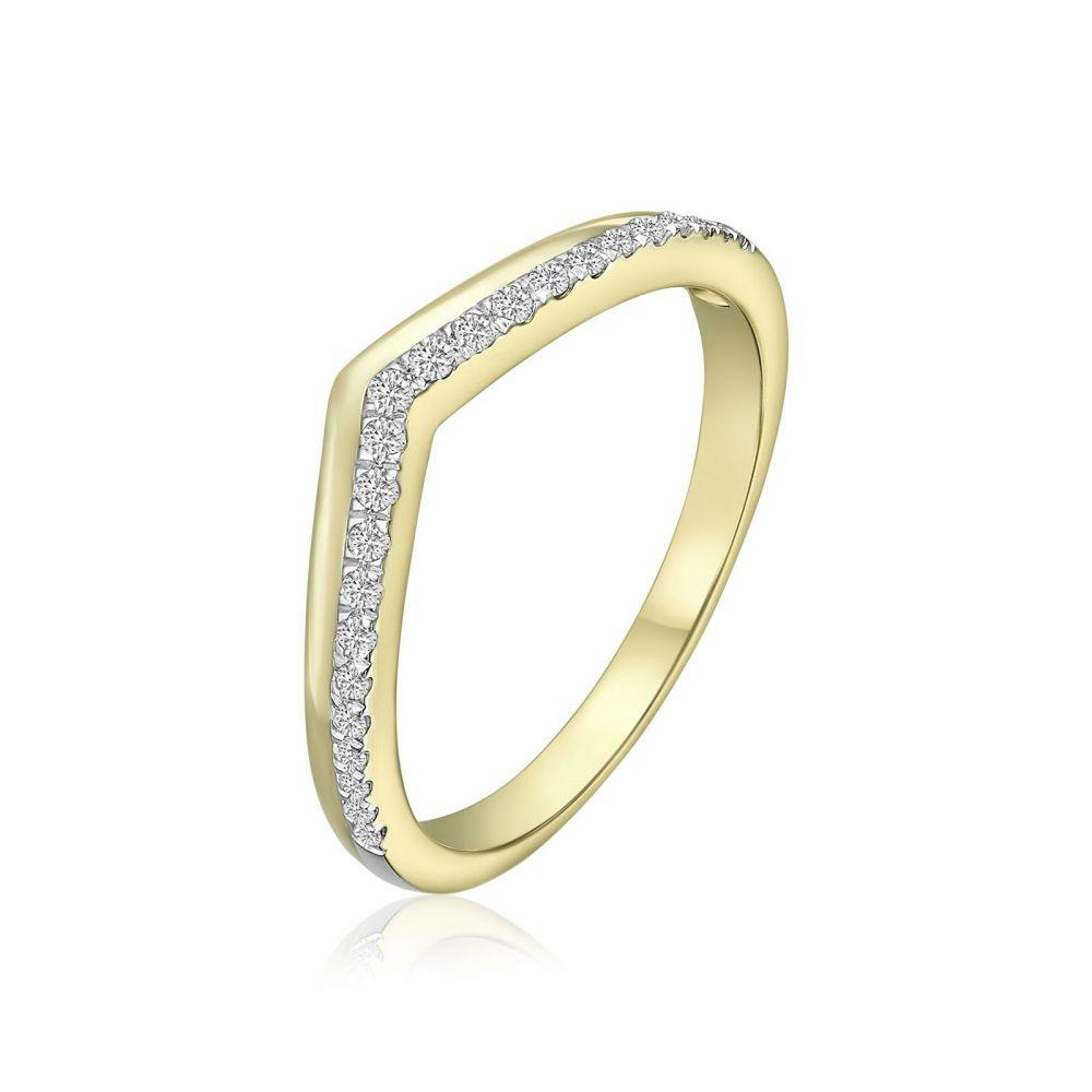 Diamond Jewelry | 14K Yellow Gold Diamond Ring - Riley