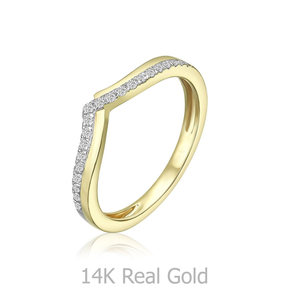 Diamond Jewelry | 14K Yellow Gold Diamond Ring - Xia