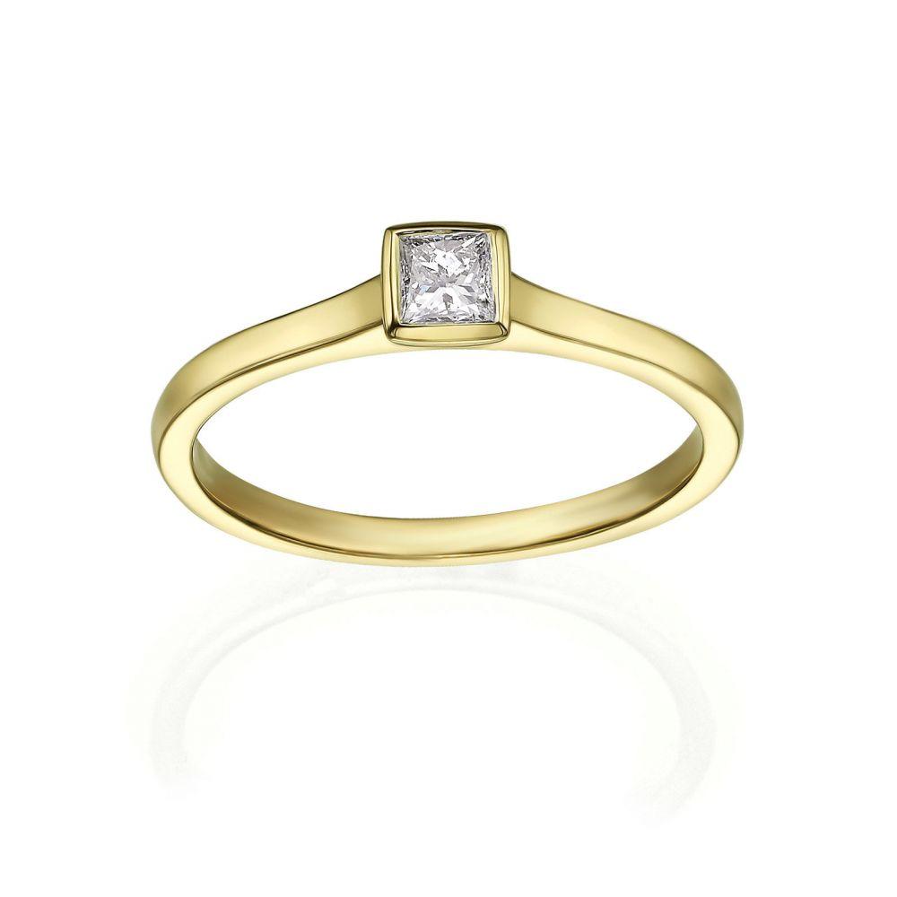 Diamond Jewelry   14K Yellow Gold Diamond Ring - Kaya