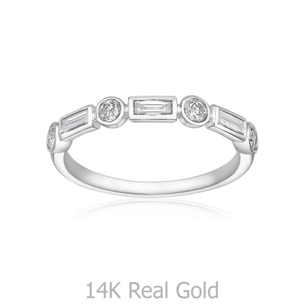 Diamond Jewelry | 14K White Gold Diamond Ring -Renee