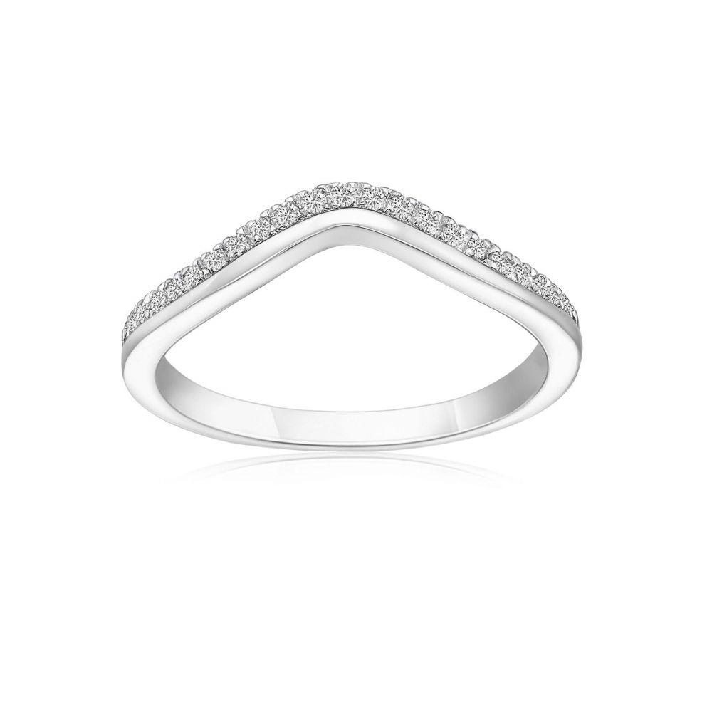 Diamond Jewelry | 14K White Gold Diamond Ring -Lori