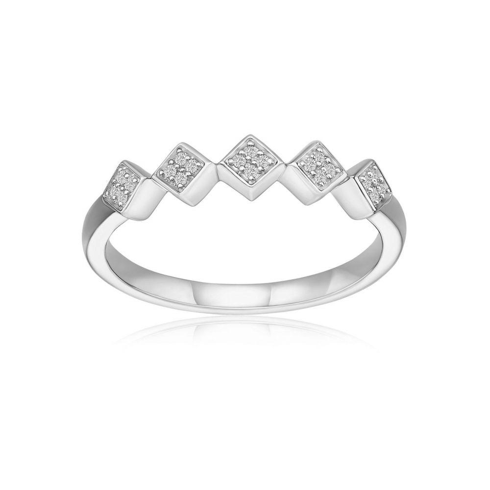Diamond Jewelry   14K White Gold Diamond Ring - Raven