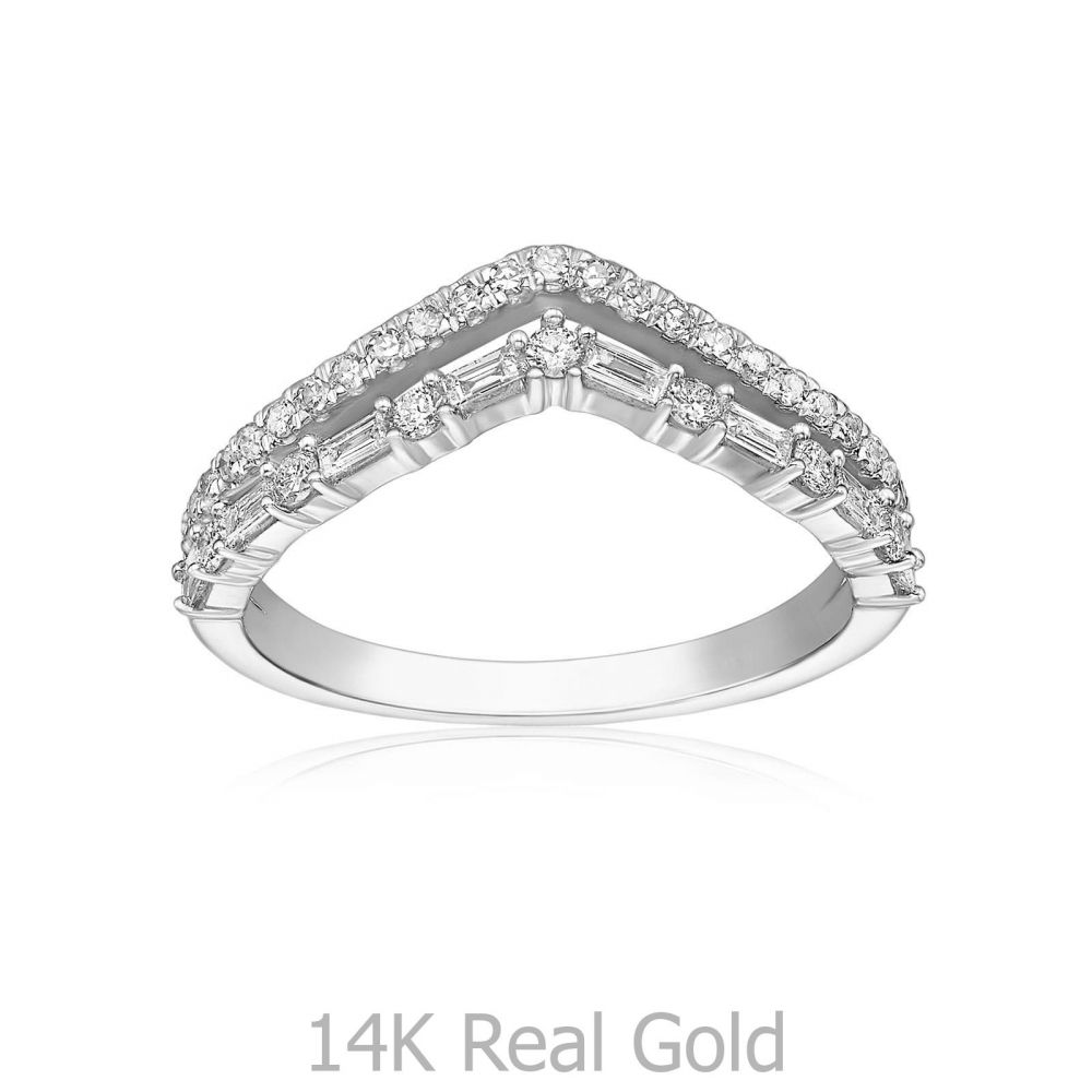 Diamond Jewelry | 14K White Gold Diamond Ring - Kate