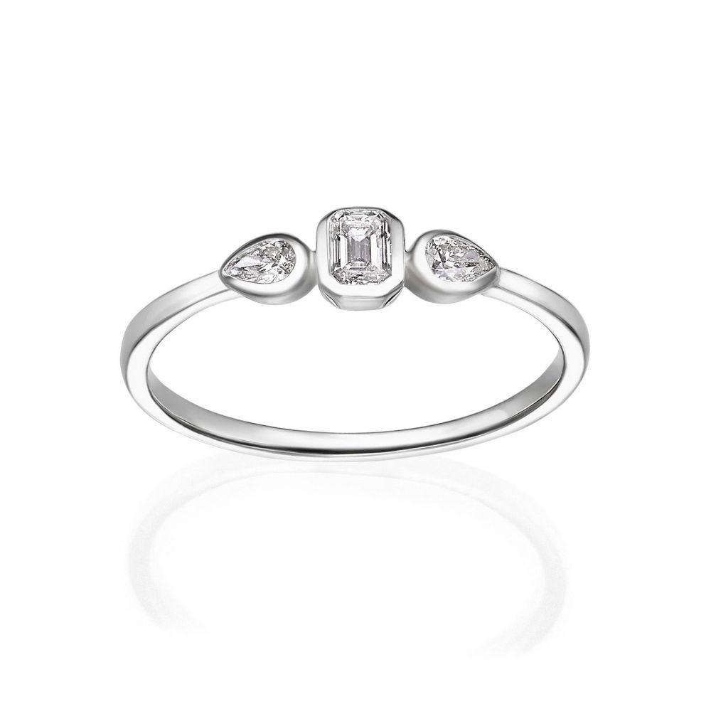 Diamond Jewelry   14K White Gold Diamond Ring - Bianca