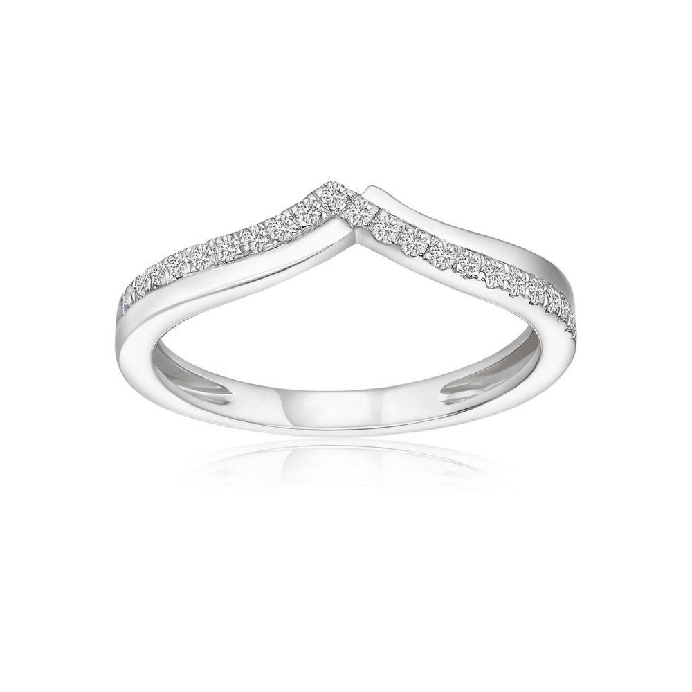 Diamond Jewelry | 14K White Gold Diamond Ring - Xia