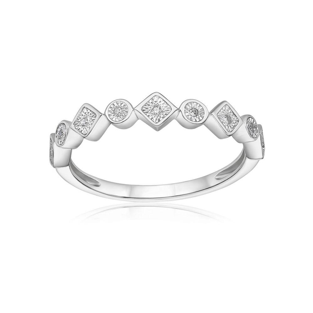 Diamond Jewelry | 14K White Gold Diamond Ring - Scarlett