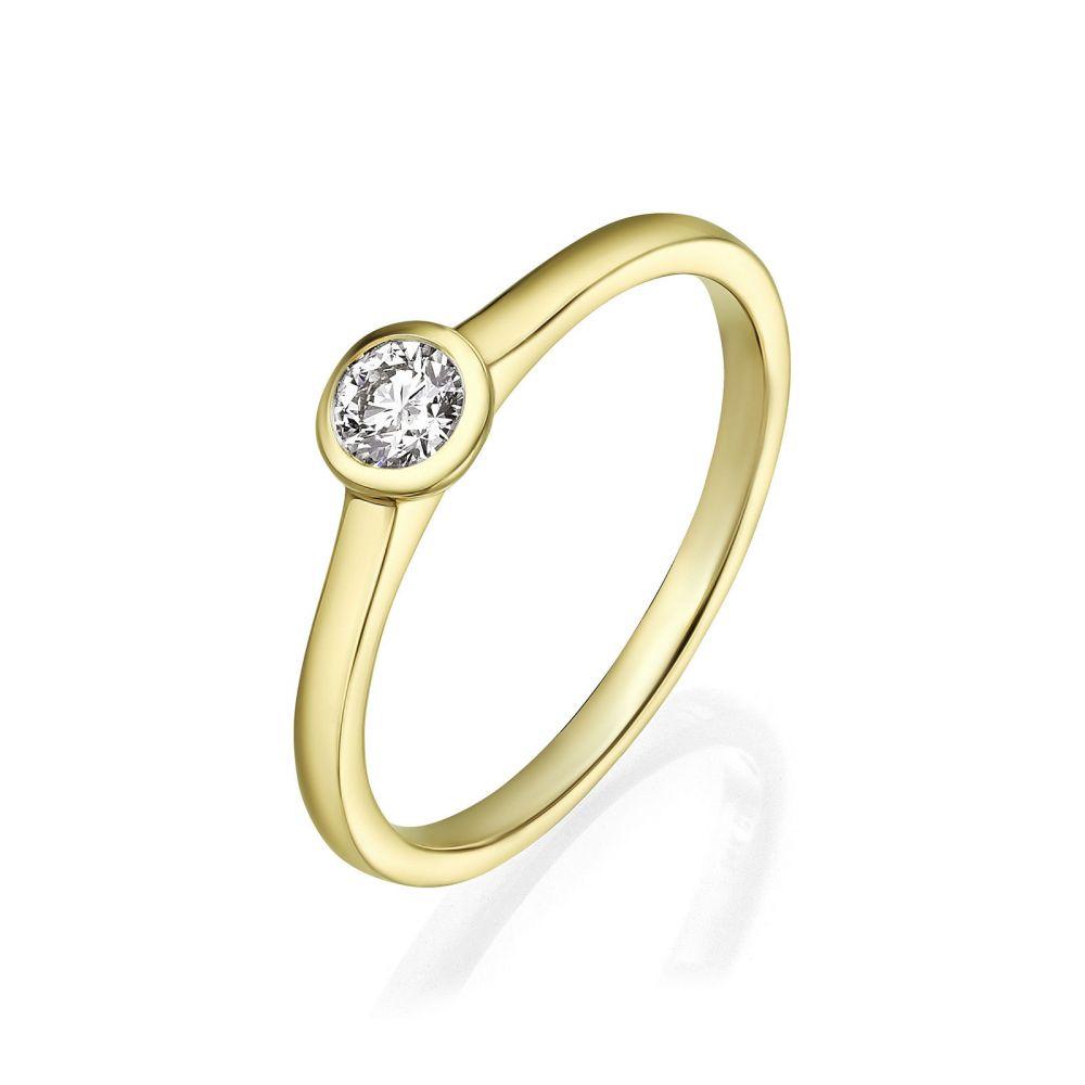 Diamond Jewelry | 14K Yellow Gold Diamond Ring - Moon
