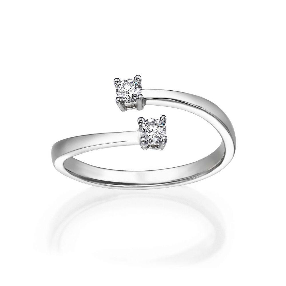 Diamond Jewelry | 14K White Gold Diamond Ring - Ray