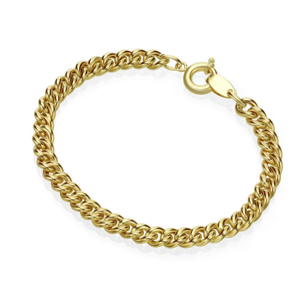 Women's Gold Jewelry | 14K Yellow Gold Bracelet - links M