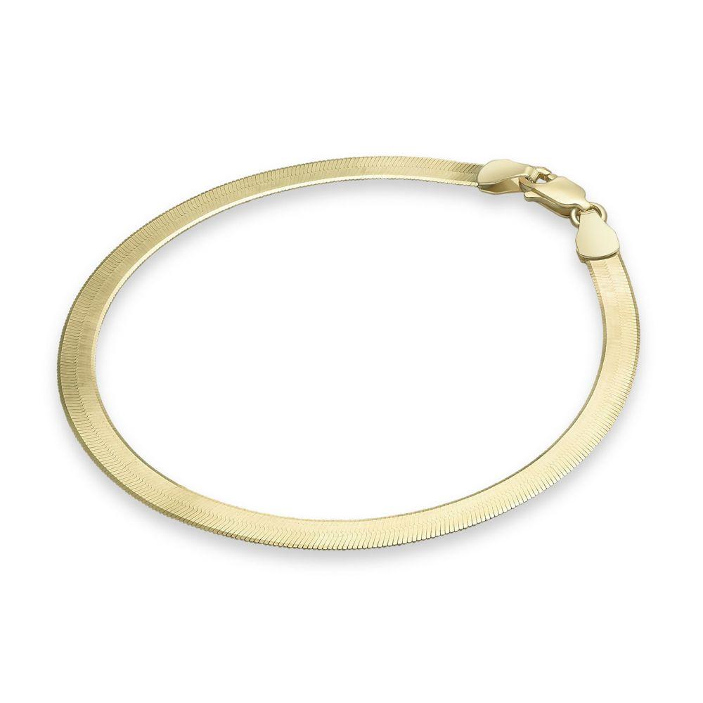 Women's Gold Jewelry   14K Yellow Gold Bracelet - Magic Rug
