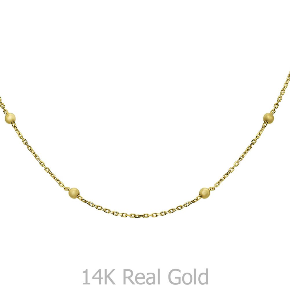 Gold Chains | 14K Yellow Gold Chains -Jasmine