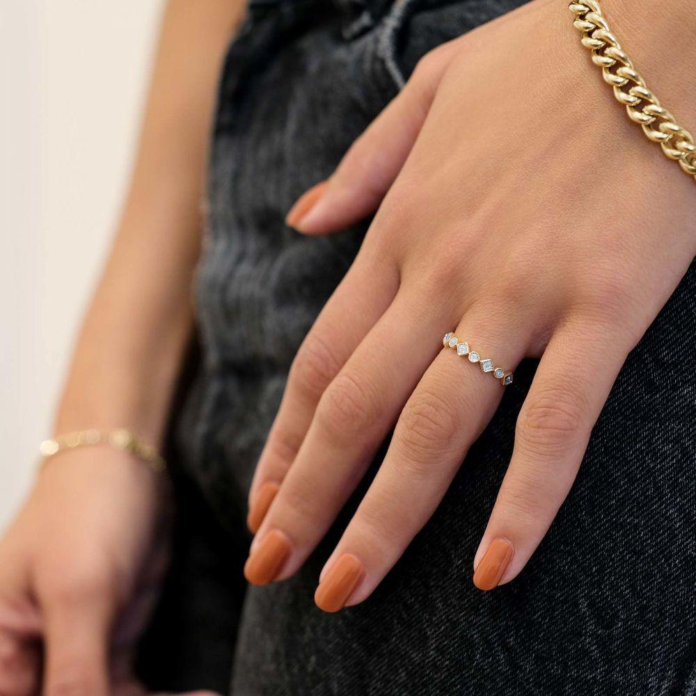 Diamond Jewelry | 14K Yellow Gold Diamond Ring - Scarlett