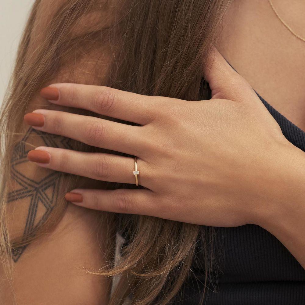 Diamond Jewelry | 14K Yellow Gold Diamond Ring - Tai