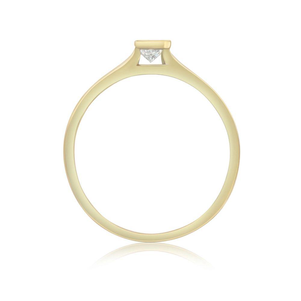 Diamond Jewelry   14K Yellow Gold Diamond Ring - Skyy