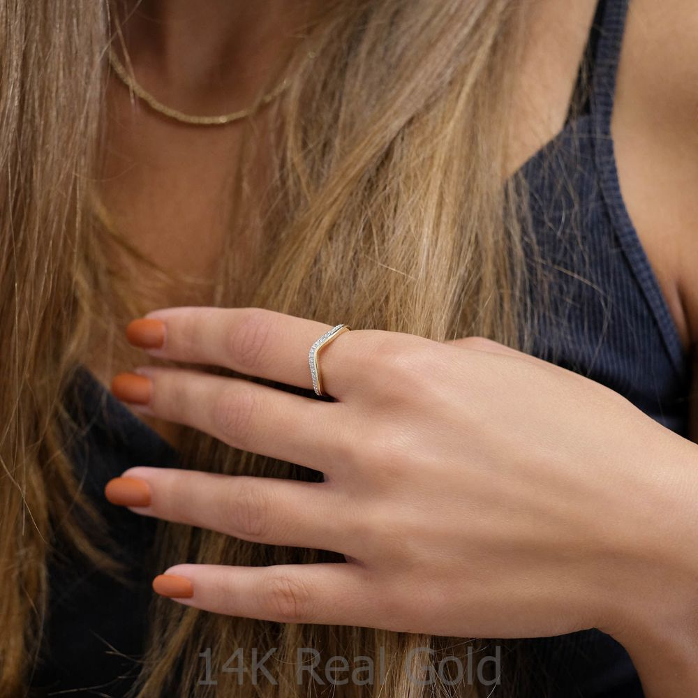 Diamond Jewelry | 14K Yellow Gold Diamond Ring - Lori
