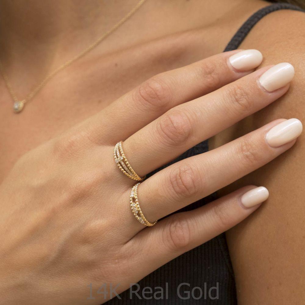 Diamond Jewelry   14K Yellow Gold Rings - Destine