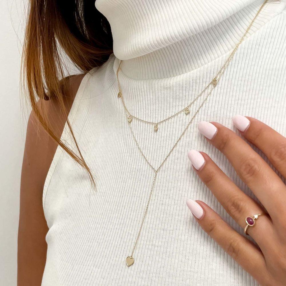 Women's Gold Jewelry | 14k Yellow gold women's pendants - Fantasy Heart