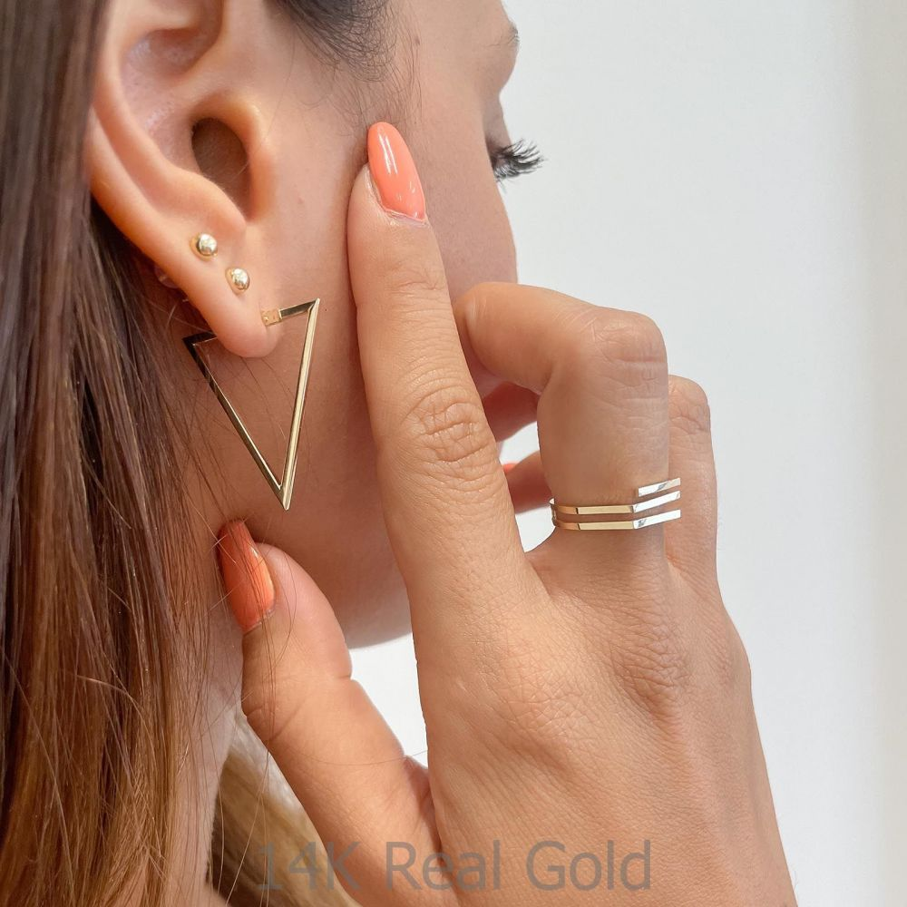 Women's Gold Jewelry   14K Yellow Gold Ring - Aline