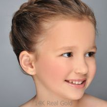 Gold Stud Earrings -  Kitty Kat