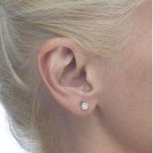 Gold Stud Earrings -  Circle of Monica