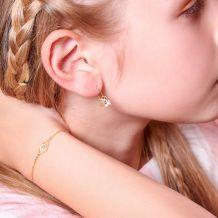 14K Gold Girls' Bracelet - Lucky Eye