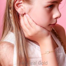 14K Gold Girls' Bracelet - Shining Butterfly