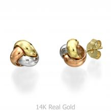 Gold Stud Earrings -  Composition