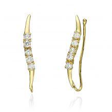 Climbing Earrings in 14K Yellow Gold - Cepheus