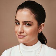 Stud Earrings in 14K Yellow Gold  - Sunrise - Large