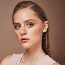 Drop and Dangle Earrings in 14K Yellow Gold - Dangling Circles