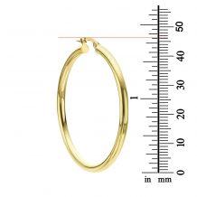 Hoop Earrings in 14K White Gold - XL